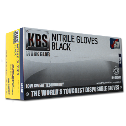 KBS Black Nitrile Disposable Gloves Product Image