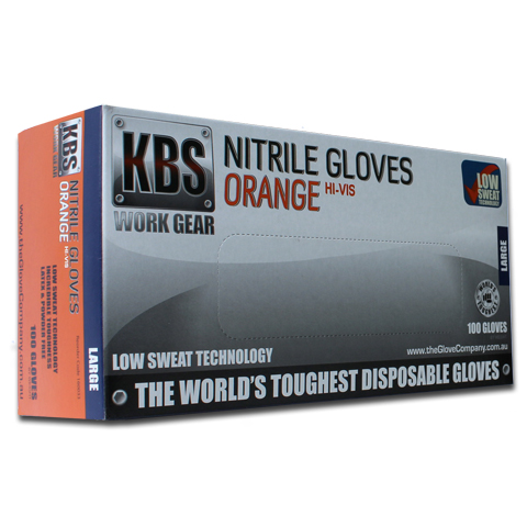 KBS Orange Nitrile Disposable Gloves Product Image
