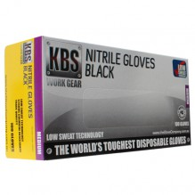 KBS Black Nitrile Glove Medium
