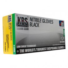 KBS Black Nitrile Gloves X-Large