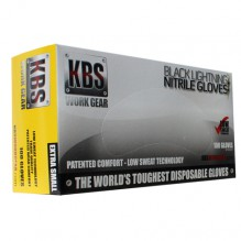 KBS Black Nitrile Glove X-Small